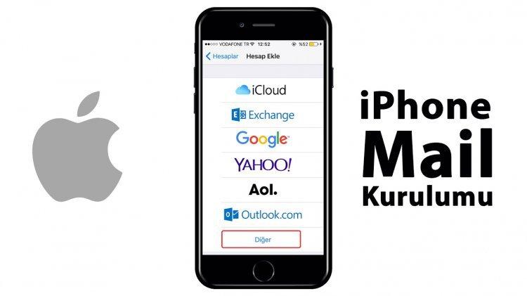 IPhone ios 10, ios 11ve ios 12 için mail kurulum ayarları